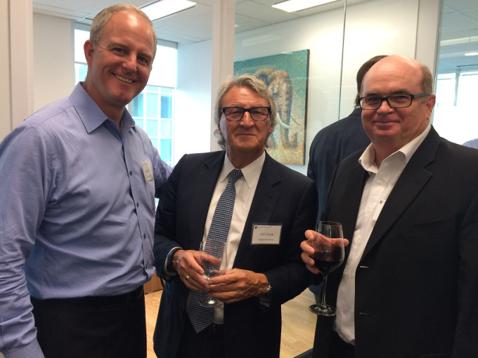 James Moffatt of Syspro Software, Chairman & CEO Carl Lovas of Odgers Berndtson and Ron Palfery of Axion Corporation