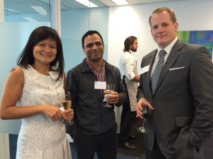 Partner Esther McGregor, Sudhir Lamba of A&R Metal Industries and Managing Director Jason Peetsma
