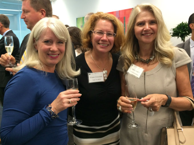 Deborah Lucas from Odgers Berndtson, Partner Elaine Grotefeld and Debra Nesbitt from the Vancouver Art Gallery