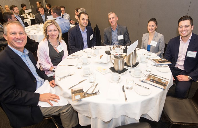 From left to right: Greg Cunningham, Ricoh Canada Inc., Jennifer Norrie Booth, Odgers Berndtson, Michael Della Fortuna, Nexeya, Peter Garvey, Saand, Sarah Madden, Odgers Berndtson and Andrew Dmytryk, Odgers Interim
