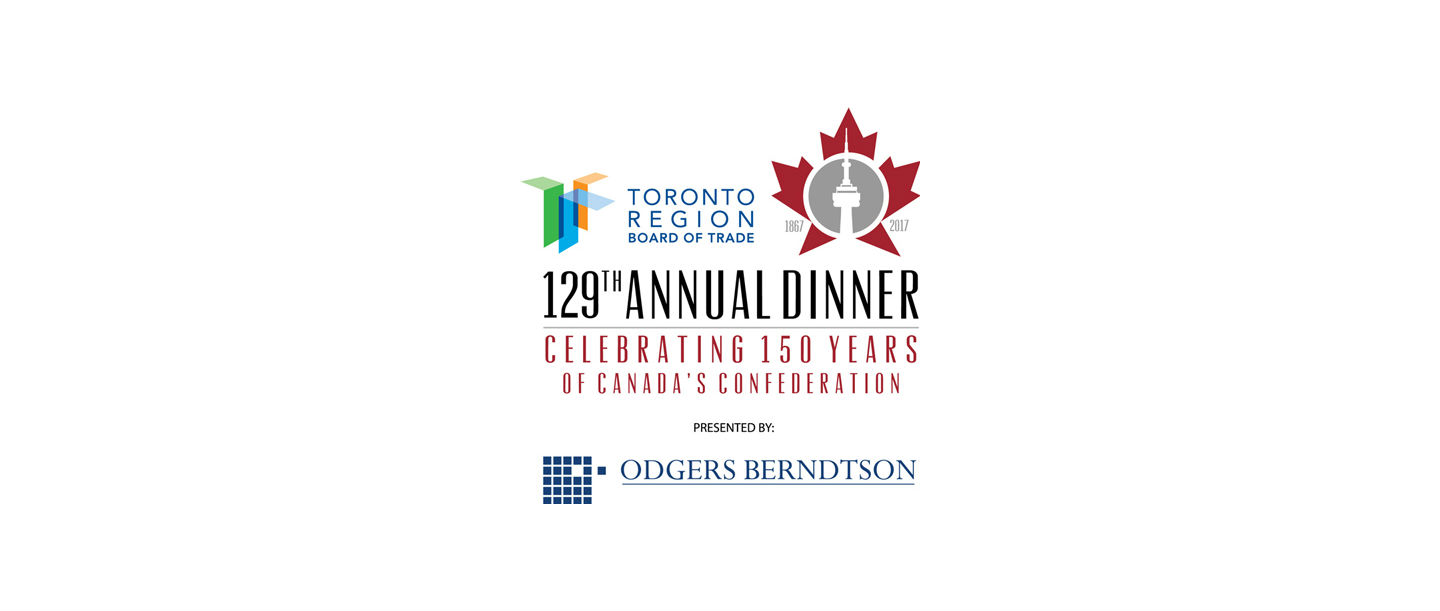 Toronto region board of trade s 129th annual gala dinner for Chambre de commerce francaise toronto