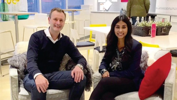 Maria Poonawala, Ryerson University student with IKEA CEO during CEOx1Day
