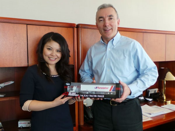 Jing and Patrick at Purolator