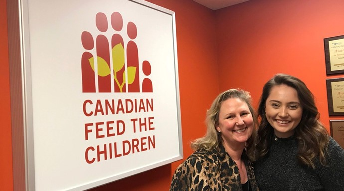 Canadian Feed The Children CEO Debra Kerby & University of Windsor student Kara Kristof