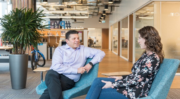 Brock University Olivia Poulin meets with Paypal CEO Paul Parisi