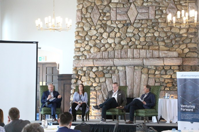 Moderator Chris Walker (Principal, Harbourvest) interviewed Whitney Rockley (Co-Founder and Managing Partner, McRock Capital), Jason Peetsma (Managing Director, Odgers Interim), and Lorne Jacobson (Vice-Chairman and Co-Founder, Triwest Capital