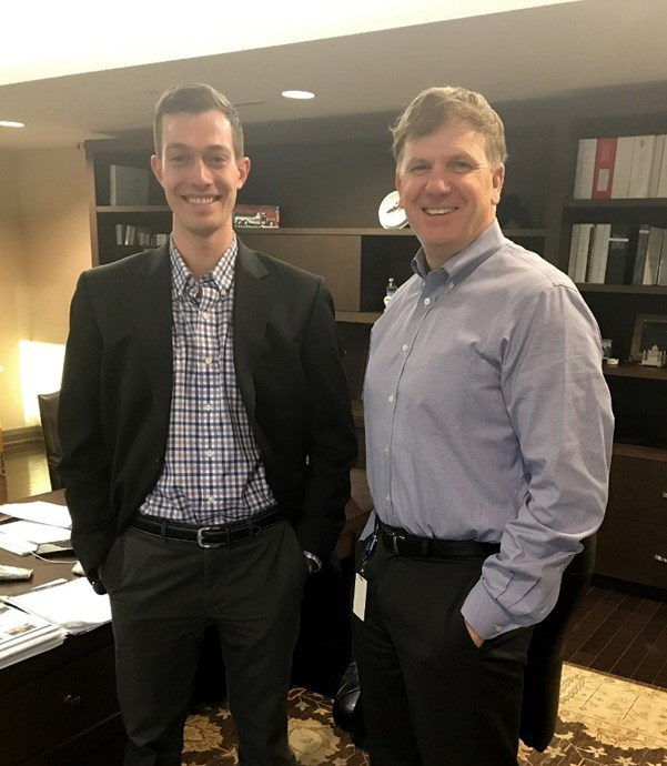 Josh Reding, 2018 CEOx1Day Finalist with Martinrea President and CEO, Pat D'Eramo