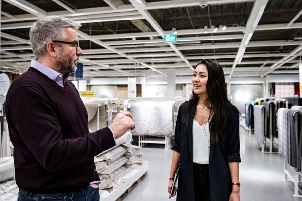 Lauren Hwang, a 21-year-old University of Toronto commerce student, shadowed IKEA Canada president Michael Ward for a day at the store in Burlington, Ont.