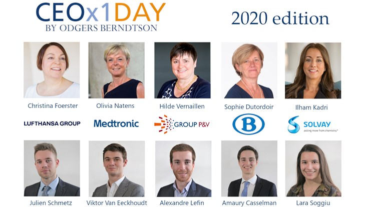 Five graduate students will spend a day with prominent Belgian CEOs